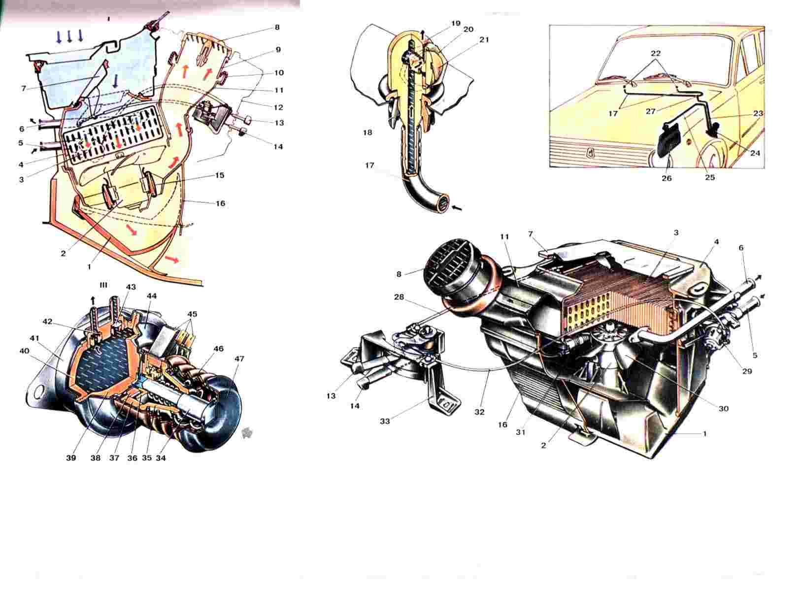 Схема отопления на ниву