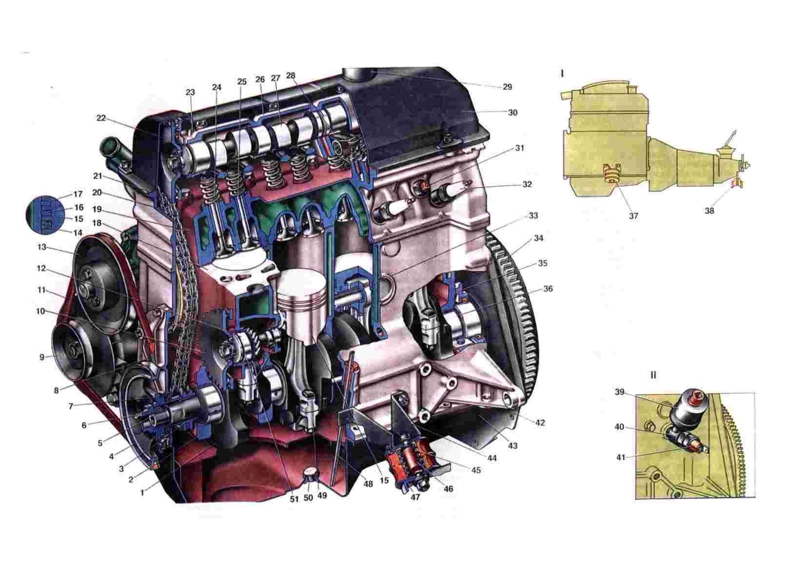 2101 ваз двигатель схема